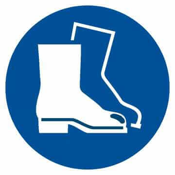 Nakaz stosowania ochrony stóp