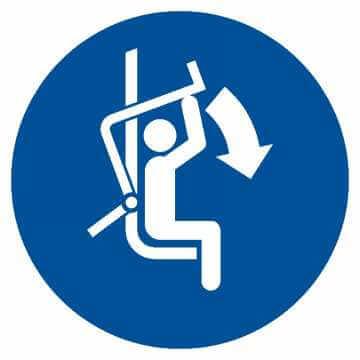 Zamknij zabezpieczenie wyciągu krzesełkowego