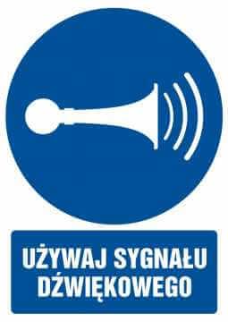 Używaj sygnału dźwiękowego z opisem