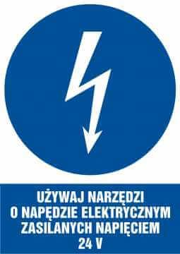 Używaj narzędzi o napędzie elektrycznym zasilanym napięciem 24 V - pionowy