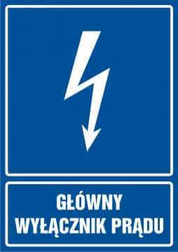 Główny wyłącznik prądu - pionowy