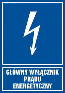 Główny wyłącznik energetyczny prądu - pionowy