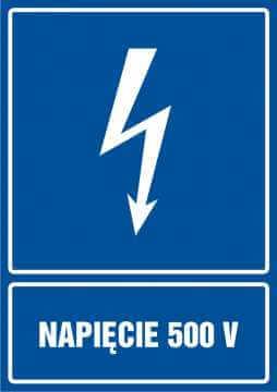 Napięcie 500V - pionowy