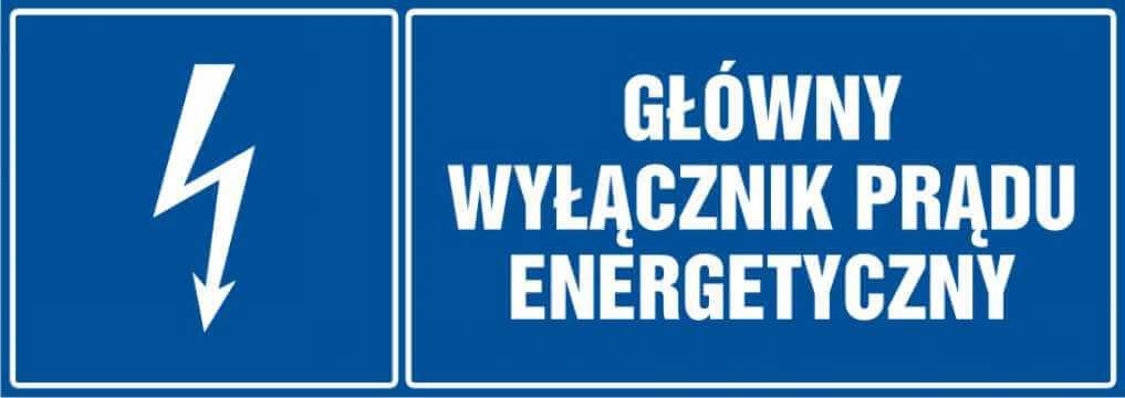 Główny wyłącznik energetyczny prądu - poziomy