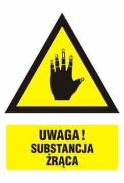 Ostrzeżenie przed substancjami żrącymi 3