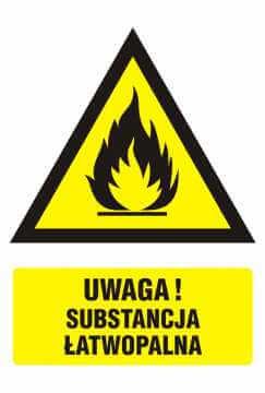 Ostrzeżenie przed substancjami łatwopalnymi 3