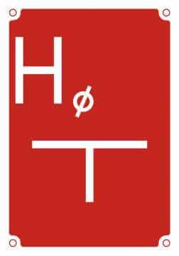 Tablica orientacyjna dla hydrantu