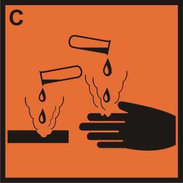 Substancja żrąca (C)