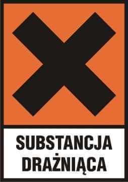 Substancja drażniąca (Xi) z opisem