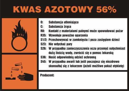 Kwas azotowy 56%