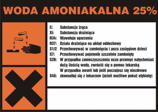 Woda amoniakalna 25%
