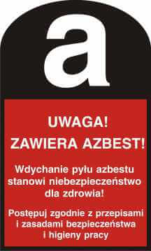 UWAGA! Zawiera azbest!