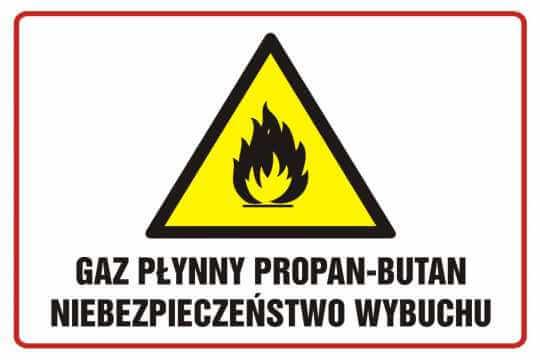 Gaz płynny propan - butan niebezpieczeństwo wybuchu