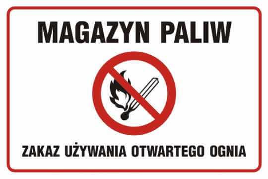 Magazyn paliw - Zakaz używania otwartego ognia 2
