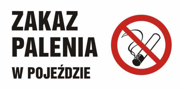 Zakaz palenia w pojeździe
