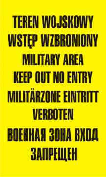 Teren wojskowy wstęp wzbroniony military area keep out no entery