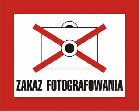 Zakaz fotografowania 2
