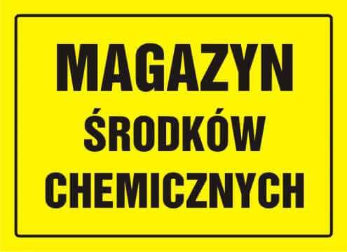 Tablica magazyn środków chemicznych