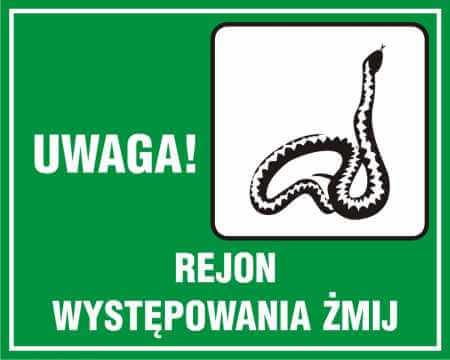 UWAGA! Rejon występowania żmij