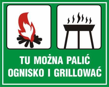 Tu można palić ognisko i grillować