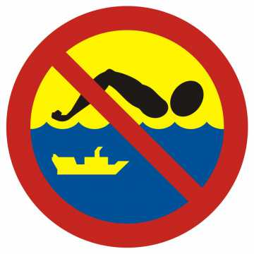 Kąpiel zabroniona - szlak żeglugowy