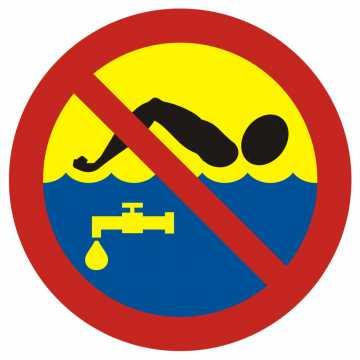 Kąpiel zabroniona - woda pitna