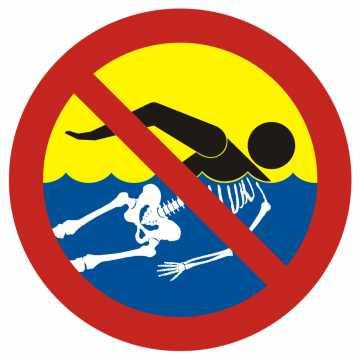 Bezwzględny zakaz kąpieli - woda silnie skażona 2