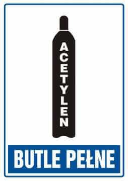Butle pełne - acetylen
