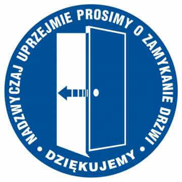Prosimy o zamykanie drzwi