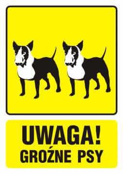 UWAGA! Groźne psy