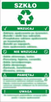 Instrukcja segregacji odpadów - szkło
