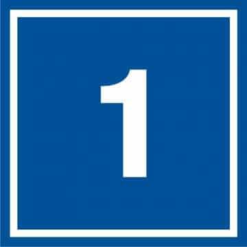 Tabliczka numer 1