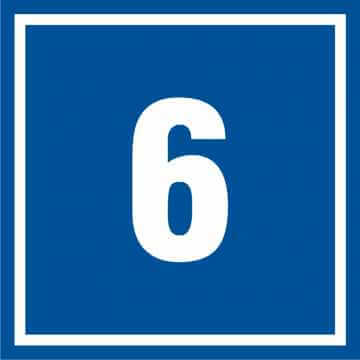 Tabliczka numer 6