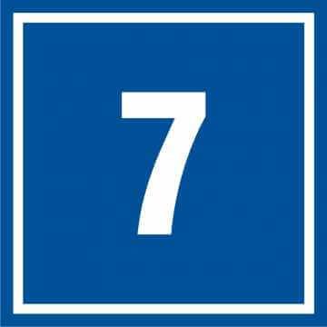 Tabliczka numer 7