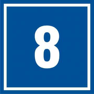 Tabliczka numer 8