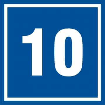 Tabliczka numer 10