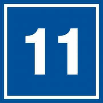 Tabliczka numer 11