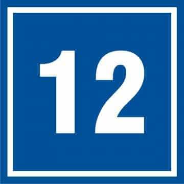 Tabliczka numer 12