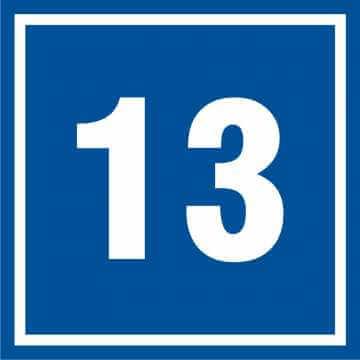Tabliczka numer 13