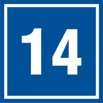 Tabliczka numer 14