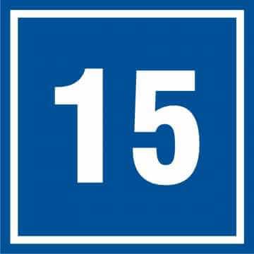 Tabliczka numer 15