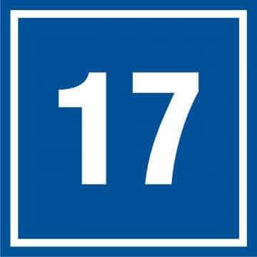 Tabliczka numer 17