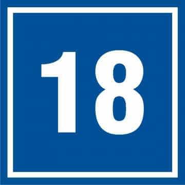 Tabliczka numer 18