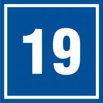 Tabliczka numer 19