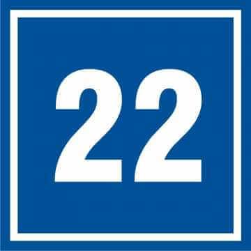 Tabliczka numer 22