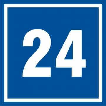 Tabliczka numer 24