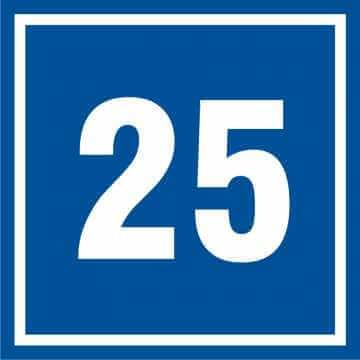 Tabliczka numer 25
