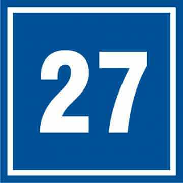 Tabliczka numer 27