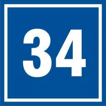 Tabliczka numer 34