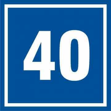 Tabliczka numer 40
